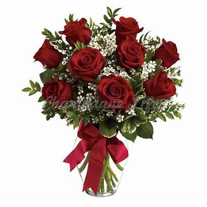 Rose Bouquet Dozen Arrangement Roses Vase Flower