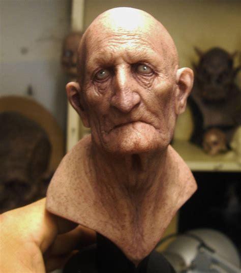 """Aris Kolokontes Art.: """"old Man"""" Painted Cast"""