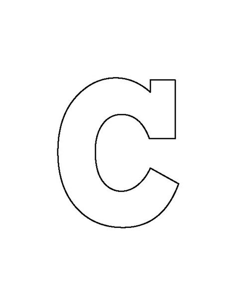 letter c template letter c stencils to print www pixshark images galleries with a bite