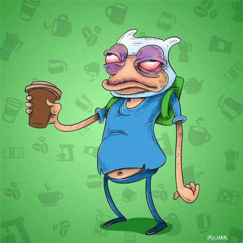 famous cartoons   morning coffee