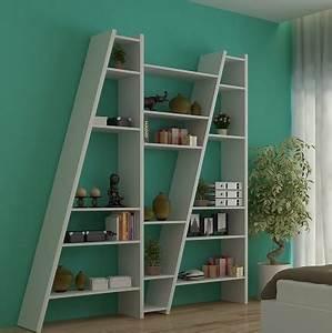 bibliothque design delta temahome bibliothque 2 colonnes With meubles pour petits espaces 3 meuble secretaire design blanc fabriqu en europe focus