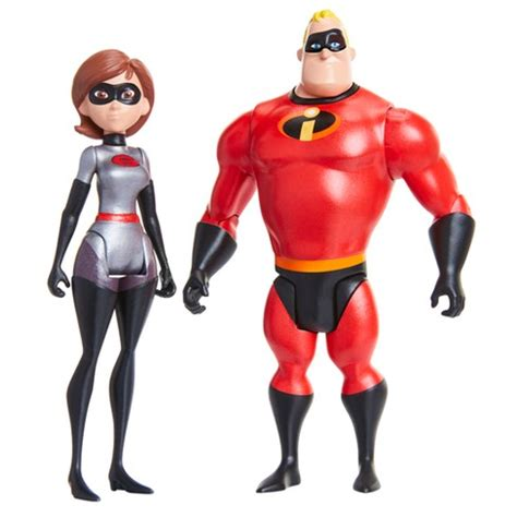 "Incredibles 2 Elastigirl & Mr Incredible 4"" Scale Action"