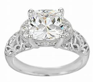 tacori iv diamonique epiphany bloom cut vintage lace ring With tacori wedding rings qvc