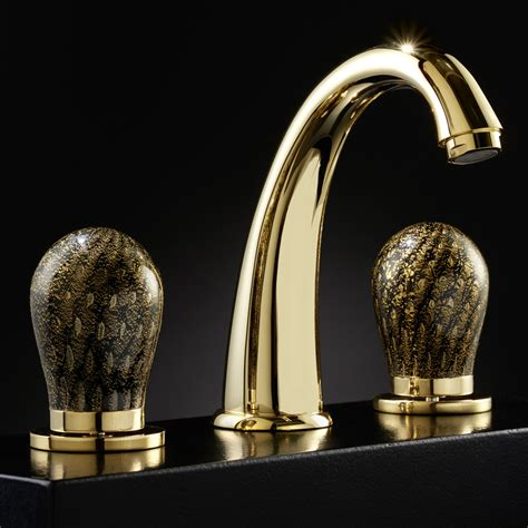 luxury kitchen faucets murano 3 hole black and gold luxury bathroom faucet