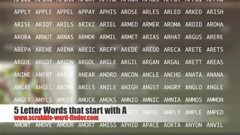4 letter words starting with i 5 letter words that start with a 44083