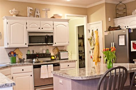 tips decorating above kitchen cabinets my kitchen