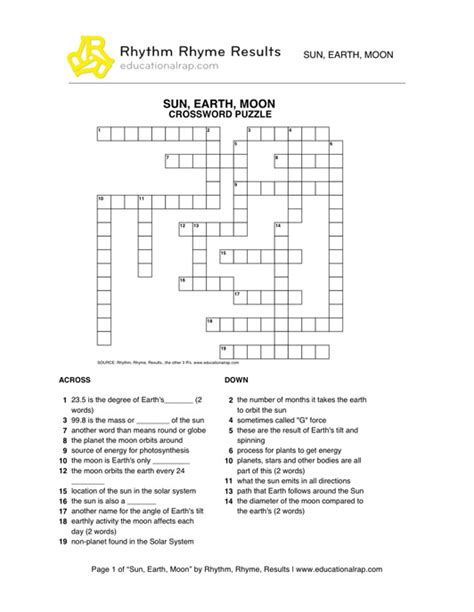 Earth Sun Moon System Answers Worksheet