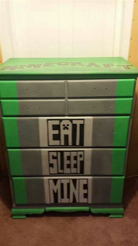Minecraft Bedroom Drawers by Custom Minecraft Chest Of Drawer For Friends Outside