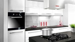 Cuisine Blanche Plan De Travail Gris : cuisine laque blanche plan de travail gris excellent ~ Melissatoandfro.com Idées de Décoration