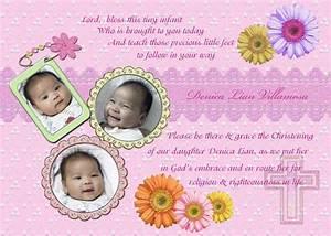 Christening Invitation For Baby Girl : Christening ...