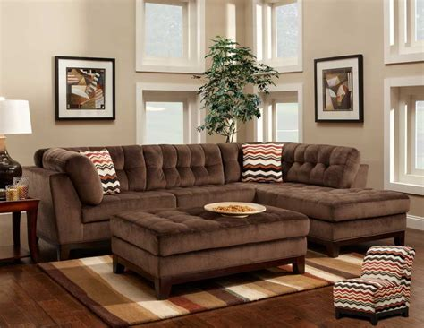 Elegant Living Room Decorating Ideas With Dark Brown Sofa