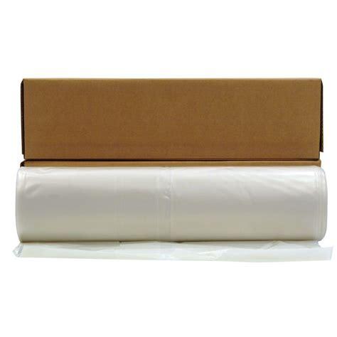 husky 20 ft 100 ft clear 10 mil plastic sheeting 12 rolls pallet cf1020c pallet the