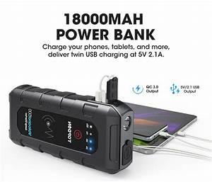 18000mah 12v Car Jump Starter Booster Power Bank Battery