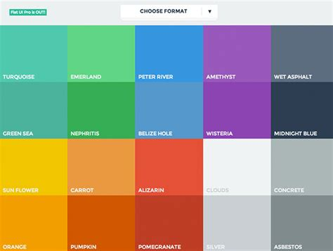 best color flat ui colors best web design tools