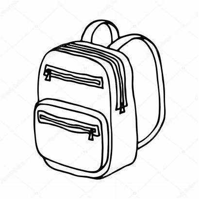 Bag Drawing Line Vector Isolated Illustration Getdrawings