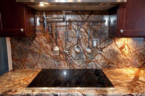 rainforest brown granite kitchen in bowie md