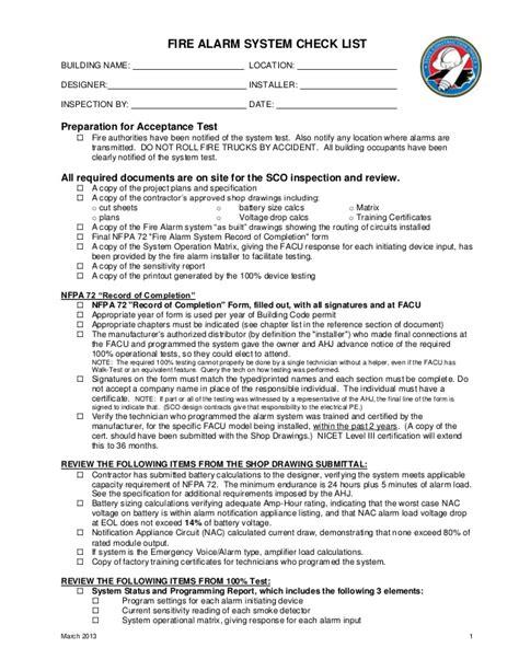 linkedin bureau veritas alarm checklist