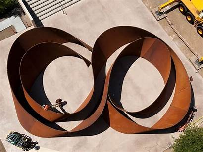 Serra Richard Sequence Sculpture Stanford Metal Sculptures