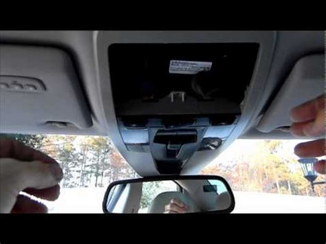 volvo  ceiling console removal youtube