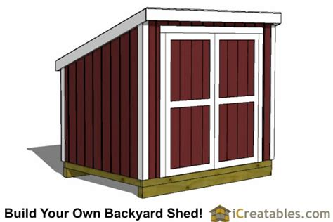 6 X 8 Slant Roof Shed Plans by Lean To Shed Plans Easy To Build Diy Shed Designs