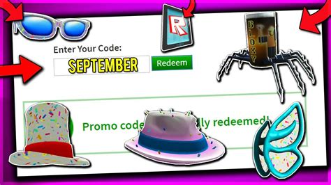 september  working promo codes  roblox