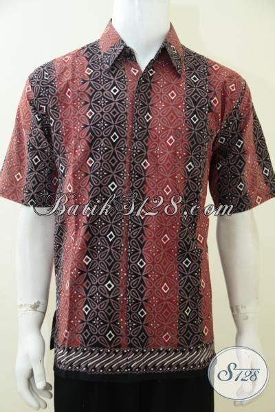 baju batik kombinasi warna hitam  orange berpadu motif