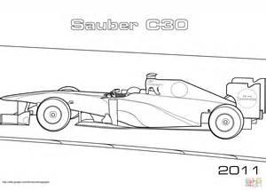 Bmw Kleurplaten A4 by Sauber C30 Formula 1 Car Coloring Page Free Printable