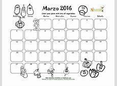 Marzo Colorea Tu Plato Con Verduas Calendario para
