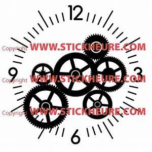 Mecanisme Horloge Geante : sticker mural horloge g ante mecanisme squelette avec m canisme aiguilles ebay ~ Teatrodelosmanantiales.com Idées de Décoration