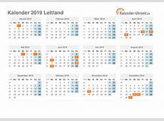 Feiertage 2019 Lettland Kalender & Übersicht