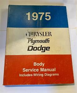 1975 Chrysler Plymouth Dodge Body Service Manual W   Wiring