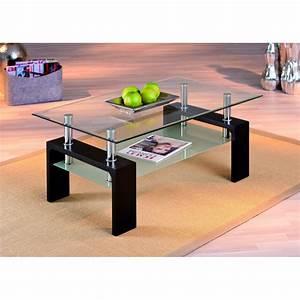Table Basse Noire Design : table basse design de salon dana noire ~ Teatrodelosmanantiales.com Idées de Décoration