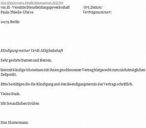 Kündigungsfrist 3 Monate Zum Monatsende Berechnen : verdi k ndigungsschreiben richtig erstellen ~ Themetempest.com Abrechnung