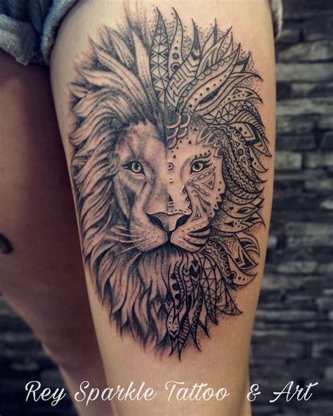 lion tattoo  rey sparkle art pinterest lions