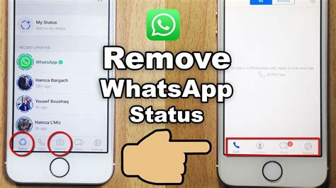 remove   whatsapp status feature