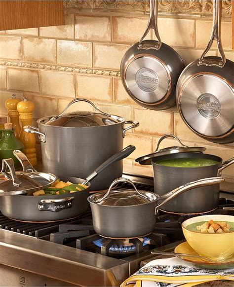 ayesha curry anolon nouvelle hard anodized copper  piece cookware set reviews cookware
