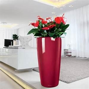 lechuza rondo 40 rouge brillant kit complet achat With amenager un jardin rectangulaire 17 3 pots de fleurs 3 pots en rotin resine tressee achat
