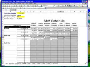 Excel Spreadsheet For Scheduling Employee Shifts by Employee Work Schedule Template Excel