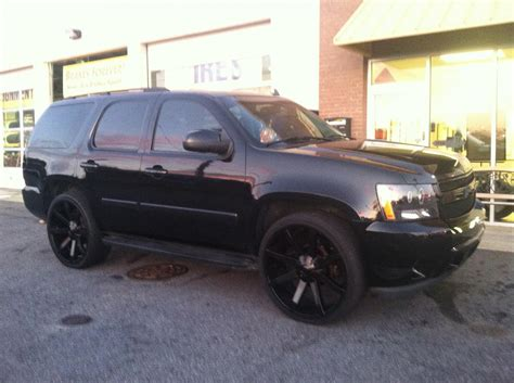 """2007 Tahoe ALL BLACK MURDERED OUT ON 26""""S CLEAN!!! TRADES ..."""