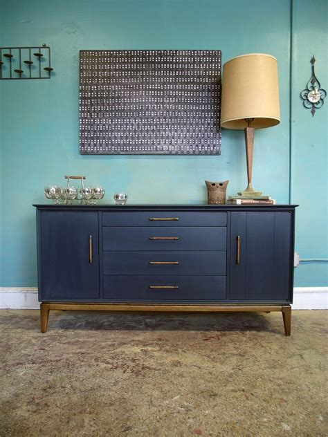Blue Sideboard by Vintage Ground Mid Century Retro Blue Sideboard