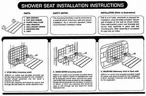 Hois259613 Shower Seat Install Instructions