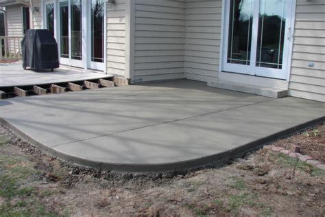 franklin wi concrete patio installation jbs construction