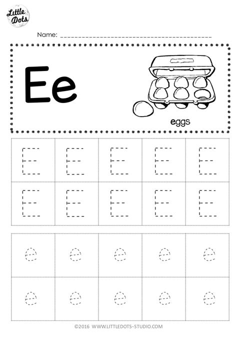 free letter e tracing worksheets