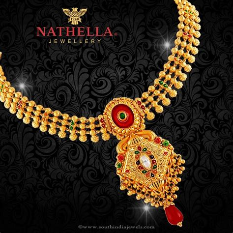 22k Gold Necklace From Nathella Jewellery  South India Jewels. Porcelain Pendant. Victorian Style Wedding Rings. Ocean Watches. Amazing Gemstone. Skeleton Hand Necklace. Adjustable Bracelet. Golden Anchor Bracelet. Ridiculous Engagement Rings