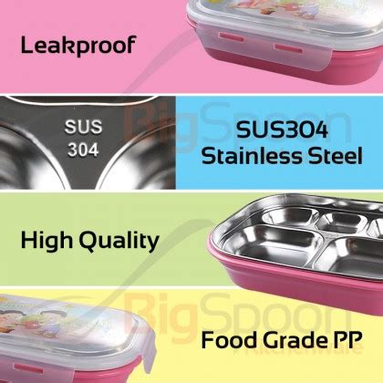 box bigspoon keep bento compartment divider sus304 container lunch safe stainless transparent steel warm leakproof injection picnic tray lid portable