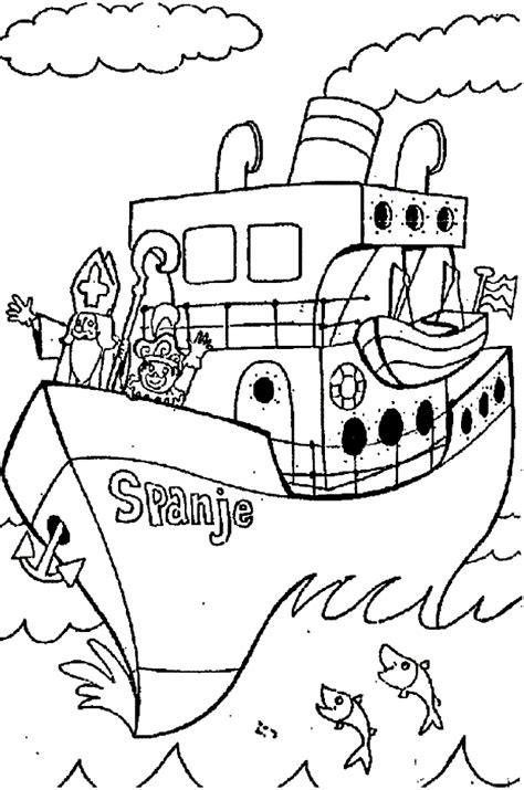 Kleurplaat Sinterklaas Komt Op Bezoke by Speciale Dagen Sinterklaas Kleurplaat 187 Animaatjes Nl