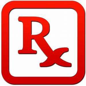 Rx symbol red colored framed clipart image - ipharmd.net