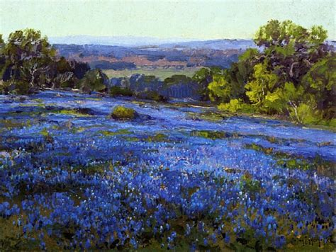 breathtaking impressionist paintings  bluebonnets