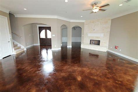 stained concrete floors  coca cola  color