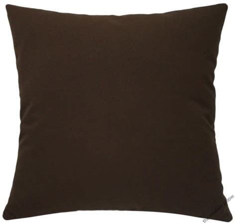 throw pillow inserts organic chocolate brown decorative throw pillow cover